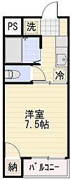 長野県長野市桐原2丁目の賃貸マンションの間取り