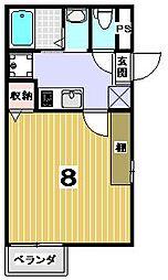 京都府京都市上京区笹屋4の賃貸マンションの間取り