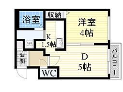 北海道札幌市北区北36条西9丁目の賃貸マンションの間取り