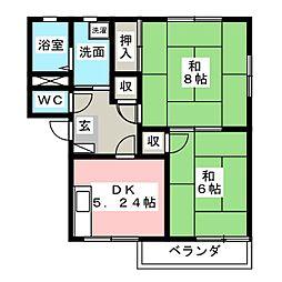 ルミエール古沢I[2階]の間取り