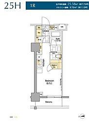 JR山手線 御徒町駅 徒歩2分の賃貸マンション 2階ワンルームの間取り