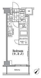 東京メトロ有楽町線 月島駅 徒歩4分の賃貸マンション 3階ワンルームの間取り