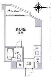 阪急京都本線 上新庄駅 徒歩9分の賃貸マンション 1階ワンルームの間取り