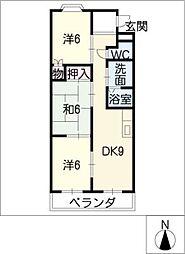 愛知県半田市住吉町2丁目の賃貸マンションの間取り