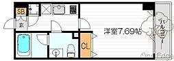 大阪府大阪市北区豊崎5丁目の賃貸マンションの間取り