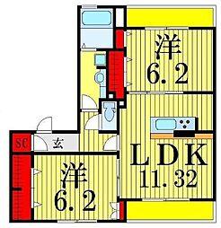 (仮)D-Room高砂7丁目[3階]の間取り