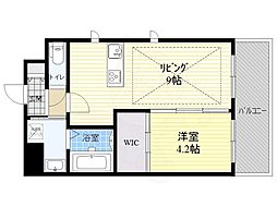 Osaka Metro御堂筋線 江坂駅 徒歩3分の賃貸マンション 10階1LDKの間取り