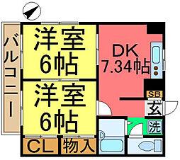 東京都江戸川区松島4丁目の賃貸マンションの間取り