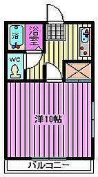 ニューグランディール喜沢[102号室]の間取り