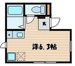 神奈川県横浜市鶴見区生麦3丁目の賃貸アパートの間取り