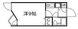 京都府京都市東山区上馬町の賃貸マンションの間取り