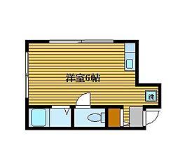 東京都板橋区大山東町の賃貸マンションの間取り