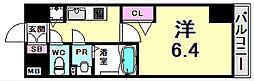 プレサンスみなと元町駅前 6階1Kの間取り