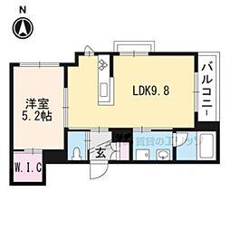 JR東海道・山陽本線 桂川駅 徒歩4分の賃貸マンション 2階1LDKの間取り