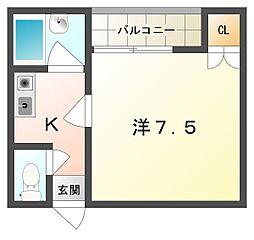シャルマン大宮[3階]の間取り