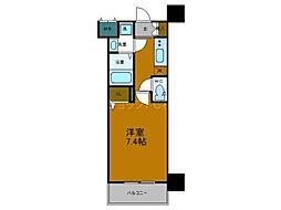 Osaka Metro中央線 弁天町駅 徒歩9分の賃貸マンション 6階1Kの間取り