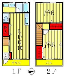 [一戸建] 千葉県松戸市栄町5丁目 の賃貸【/】の間取り