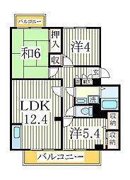 ガーデンビレッジ柏3号棟[3階]の間取り