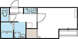 東武東上線 鶴ヶ島駅 徒歩4分の賃貸アパート 1階1Kの間取り
