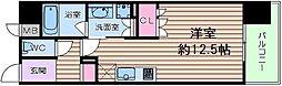 大阪府大阪市港区弁天1丁目の賃貸マンションの間取り