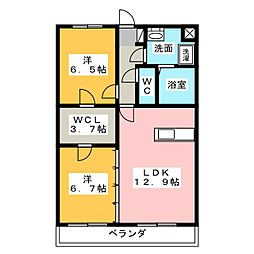 大島マンション6[2階]の間取り