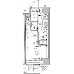 JR総武線 新小岩駅 徒歩12分の賃貸マンション 4階1Kの間取り