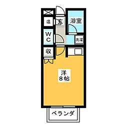 ドーム高峯[1階]の間取り