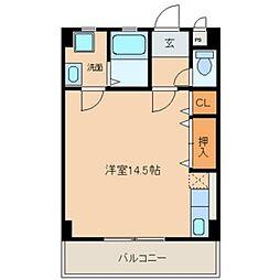 愛知県小牧市大字三ツ渕の賃貸マンションの間取り
