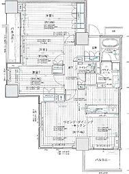 サンコリーヌタワー横須賀中央駅前[21階]の間取り