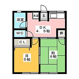 マロンウッド[1階]の間取り