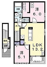 ラウレア・コア[2階]の間取り
