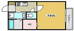 兵庫県三木市緑が丘町西1丁目の賃貸アパートの間取り