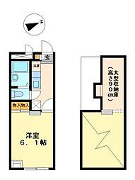 兵庫県神戸市西区岩岡町西脇の賃貸アパートの間取り