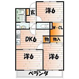 フィールド・ワン[1階]の間取り