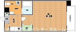 京阪交野線 交野市駅 徒歩4分の賃貸マンション 5階1Kの間取り