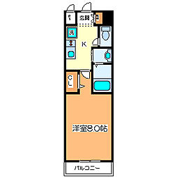 パレス大阪[5階]の間取り