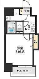 Dwelling ASAHI 4階1Kの間取り