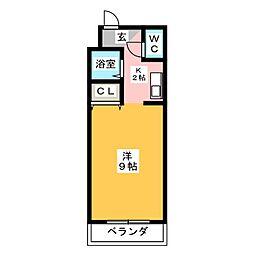 トップパレス[4階]の間取り