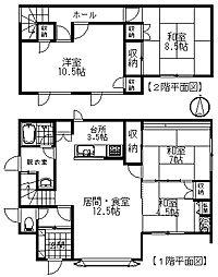 JR根室本線 帯広駅 バス30分 中島通4丁目下車 徒歩5分 4LDKの間取り