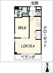 Studio DUO 1252[3階]の間取り