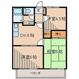 サンビレッジ文京[2階]の間取り