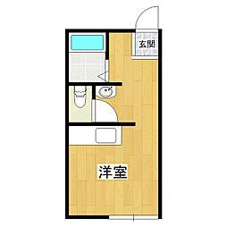 竹園ハイツI[2階]の間取り