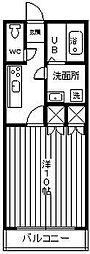 レジデンス末広[305号室]の間取り