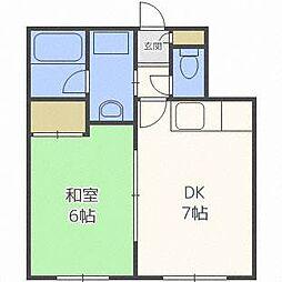 はるみマンション[1階]の間取り