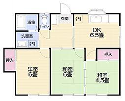 コーポ新宅[2階号室]の間取り