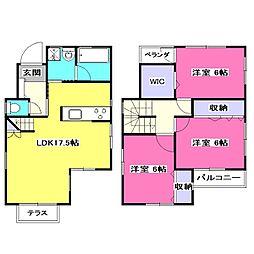 [一戸建] 東京都東大和市清水3丁目 の賃貸【東京都 / 東大和市】の間取り