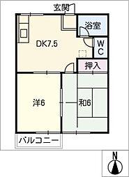 サンハイツ山田[1階]の間取り