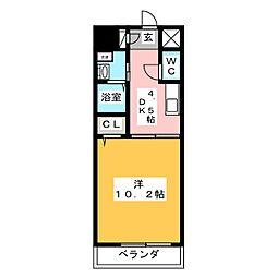 VERDINO内田橋[3階]の間取り