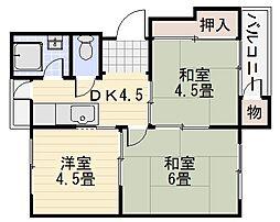 綾園マンション[1階]の間取り