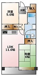 (分譲)武庫川あおぞらのまち25号棟[6階]の間取り